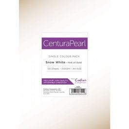 Centura Pearl A4 Snow White Card 310gsm Pk 50 – Hint of Gold