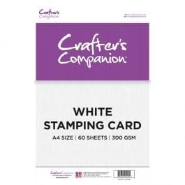 Crafter's Companion A4 Stamping Card White Pk 60