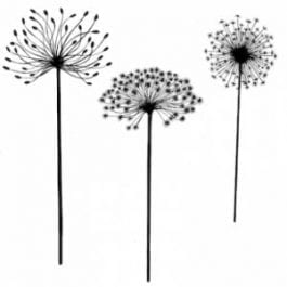 Lavinia Clear Polymer Stamp Dandelions