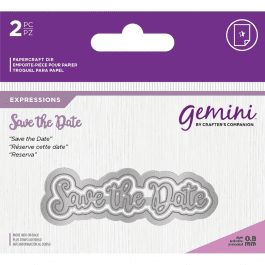 Gemini Die – Expressions – Save The Date