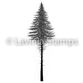 Lavinia Clear Polymer Stamp Fairy Fir Tree 2 Small