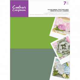Crafter's Companion – Flower Forming Foam – Foliage Greens Pk 7
