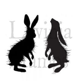 Lavinia Clear Polymer Stamp Woodland Hares