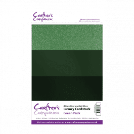 Crafter's Companion A4 Luxury Cardstock Green Pk 30