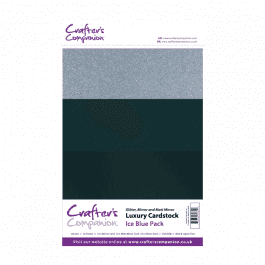 Crafter's Companion A4 Luxury Cardstock Ice Blue Pk 30