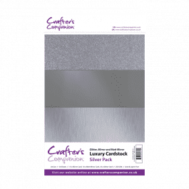 Crafter's Companion A4 Luxury Cardstock Silver Pk 30