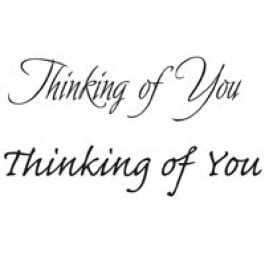 Woodware Just Words 1.5″ x 3″ Stamp – Thinking Of You