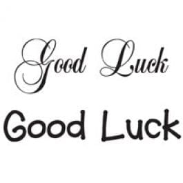 Woodware Just Words 1.5″ x 3″ Stamp – Good Luck