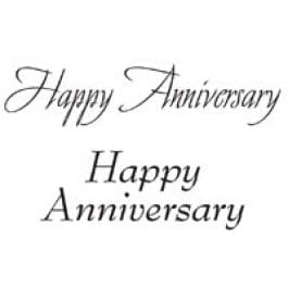 Woodware Just Words 1.5″ x 3″ Stamp – Happy Anniversary