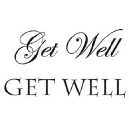 Woodware Just Words 1.5″ x 3″ Stamp – Get Well