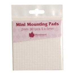 Woodware Mini Mounting Pads 2mm Pk 361 5mm x 5mm