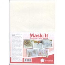 Woodware Mask-It A4 Sheets Pk 2