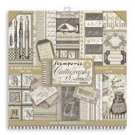 Stamperia Paper Pack 12″ x 12″ 190gsm Calligraphy Pk 10
