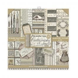 Stamperia Paper Pack 8″ x 8″ 190gsm Calligraphy Pk 10