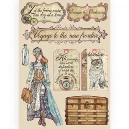 Stamperia Coloured Wooden Shapes A5 Lady Vagabond Labels