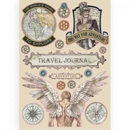 Stamperia Coloured Wooden Shapes A5 Sir Vagabond Travel Journal