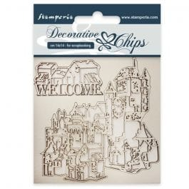Stamperia Decorative Chips 14.5cm x 14.5cm Welcome