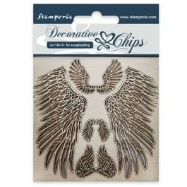Stamperia Decorative Chips 14.5cm x 14.5cm Wings