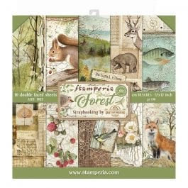 Stamperia Paper Pack 12″ x 12″ 190gsm Forest Pk 10