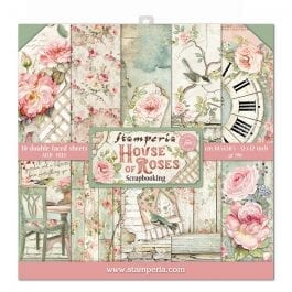 Stamperia Paper Pack 12″ x 12″ 190gsm House of Roses Pk 10