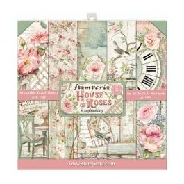 Stamperia Paper Pack 8″ x 8″ 190gsm House of Roses Pk 10