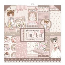 Stamperia Paper Pack 12″ x 12″ 190gsm Little Girl Pk 10