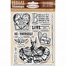Stamperia Natural Rubber Stamp 14cm x 18cm Fly High Pk 10
