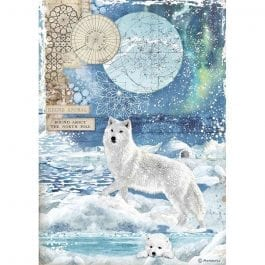 Stamperia Rice Paper A4 Wolf Pk 1