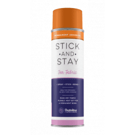 Crafter's Companion Stick & Stay Adhesive For Fabrics – Permanent Fusible Adhesive