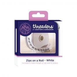 Threaders Zips On A Roll – White