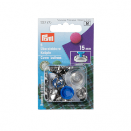 Prym Cover Buttons 11mm Metal Pk 7