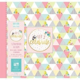 First Edition Scrapbook Album 12″ x 12″ Let's Celebrate Triangles