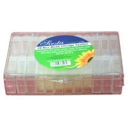 Siesta Clear Storage Box with 24 Individual Containers with Flip Top Lids