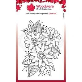 Woodware Clear Stamp 6″ x 4″ Passion Flower