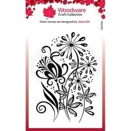 Woodware Clear Stamp 6″ x 4″ Curly Petals