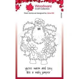 Woodware Clear Stamp 6″ x 4″ Fuzzy Friends Baalamb