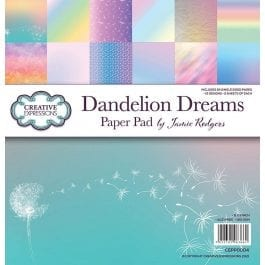 Creative Expressions Jamie Rodgers Paper Pad 8″ x 8″ Dandelion Dreams