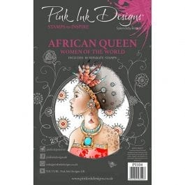 Pink Ink Designs Clear Stamp Set A5 African Queen