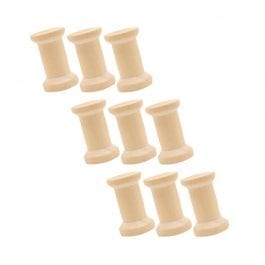 Crafts Too Wooden Spools Extra Small Pk 9