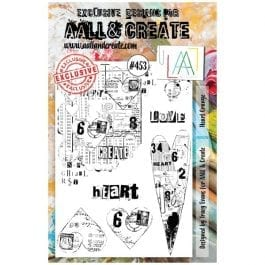 AALL & Create Clear Stamp A5 Heart Grunge