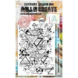 AALL & Create Clear Stamp A6 Lined Triangles