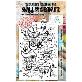 AALL & Create Clear Stamp A6 Lined Crescents
