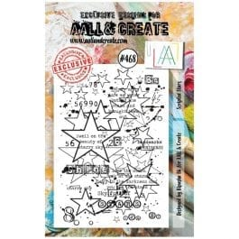 AALL & Create Clear Stamp A7 Scripted Stars