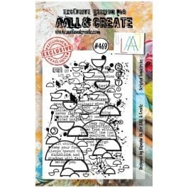 AALL & Create Clear Stamp A7 Scripted Semicircles