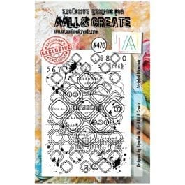 AALL & Create Clear Stamp A7 Scripted Diamonds