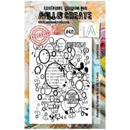 AALL & Create Clear Stamp A7 Scripted Ovals