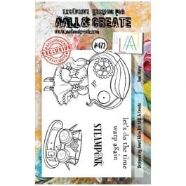 AALL & Create Clear Stamp A7 Time Warp