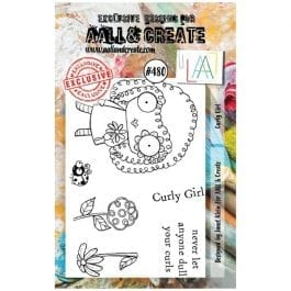 AALL & Create Clear Stamp A7 Curly Girl