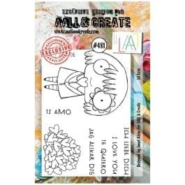 AALL & Create Clear Stamp A7 Lil Love