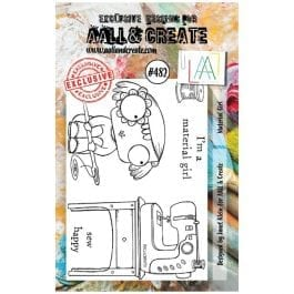 AALL & Create Clear Stamp A7 Material Girl